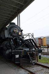 Streaking past the Y6a (caltrain927) Tags: virginia nw norfolk engine railway class steam roanoke va transportation western locomotive muesum y6a vmt