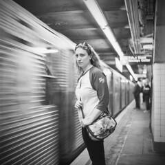New York_20160423_006 (falconn67) Tags: nyc bw newyork motion mamiya film brooklyn train mediumformat subway blackwhite 120film