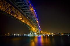 Beautiful Blue Water (Notkalvin) Tags: longexposure bridge reflection night evening outdoor bluewaterbridge internationalborder mikekline notkalvin notkalvinphotography