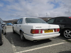 1986 MERCEDES 420 SE AUTO (geccove) Tags: white benz s class uga merc w126