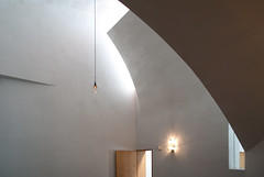 Natural light baffles (See.jay) Tags: seattle washington usa seattleuniversity interior bottlesoflight stevenholl architects naturallight chapel chapelofstignatius stignatius jesuit catholic lighting lightbaffles handblownglass glasslightfittings sacredspace rakedplaster plaster texture forms sculptural