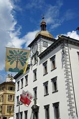 Htel de Ville de Sion (canton du Valais) (bernarddelefosse) Tags: suisse valais sion hteldeville horlogeastronomique