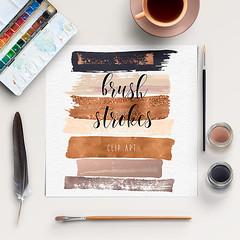 Brush Stroke Clip Art (northseastudio) Tags: stroke brush clipart etsy brushstroke