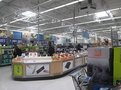 Electronics Counter (Random Retail) Tags: ny retail store walmart ithaca 2016