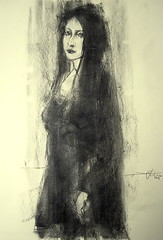 P1015103 (Gasheh) Tags: portrait woman art girl pencil painting sketch drawing charcoal figure 2016 gasheh