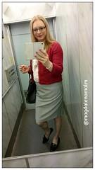 thurday outfit (magdalena_m) Tags: woman stockings glasses feminine makeup skirt swedish blouse transgender nails jacket tranny blonde transvestite trans mtf maletofemale transgirl femitransvestite blousenine