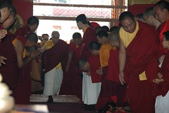 His Holiness Jigdal Dagchen Sakya enters Tharlam Monastery, Boudha, Kathmandu, Nepal (Wonderlane) Tags: nepal religious person peace path buddhist traditional famous religion compassion buddhism teacher blessing american leader lama tibetan kathmandu teaching practice tradition spiritual enlightenment result rinpoche tantra guru initiation boudha buddhists holiness teachings tantric empowerment 2061 sakya tibetanbuddhism personage bodha vajrayana bodhanath mahayana tibetanbuddhist lamdre tharlammonastery dagchen jdsakya jigdaldagchensakya sakyasect jigdal hisholinessjigdaldagchensakya dagchenrinpoche dagchensakya hhjigdaldagchensakya gongmadagchenrinpoche