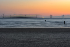 Gormley`s surreal (alun.disley@ntlworld.com) Tags: longexposure sunset art beach nature weather liverpool shipping windfarm crosby anthonygormley sefton ironmen portsandharbours
