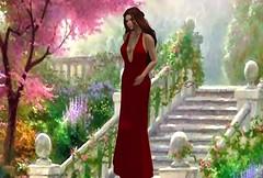 Partners in Crime - Arwen Dress_001 (mondi.beaumont) Tags: sl secondlife gacha event jackpot 30 linden 30l fashion medieval fantasy gor gorean dress gown red arwen partners crime