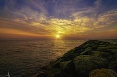 Last Light - Abu Samra Qatar (zai Qtr) Tags: light sunset sea sky sun nature clouds nikon outdoor tokina hdr doha qatar abusamra zaiqtr ksaqatarborder