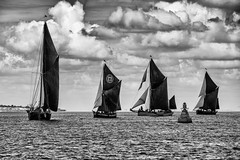 Rounding the Mark (Eddie Hyde) Tags: sailing barges thames racing monochrome