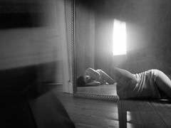 432 (Daniel Hammelstein) Tags: camera blackandwhite bw woman monochrome beauty female lens photography model exposure flickr image availablelight grain creative prism lingerie panasonic explore mft alienskin lookslikefilm pentaprism microfourthirds 20mm17 lumixgh3