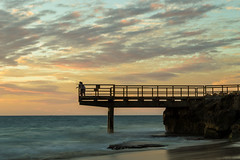 Sunset Jetty (PeteG Photos) Tags: ocean sunset beach waves jetty perth northbeach reef westernaustralia
