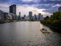 Sunset on the River (hyossie) Tags: sunset japan river lumix osaka gf1 g20mmf17