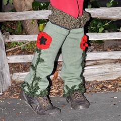 Poppy Leggings (Kiwi Little Things) Tags: knitting crochet leggings poppys crochetlace