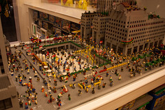 The Rockfeller Plaza in Lego (_NicoDem_) Tags: nyc newyork canon eos rebel store lego bigapple xsi rockfellerplaza 450d