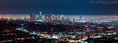 Downtown Los Angeles (RickrPhoto) Tags: california rose skyline night digital one back los long exposure cityscape angeles tripod rick hasselblad h2 phase hc p45 f3556 50110 rickr rickrphoto