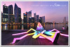 singapore (fiftymm99) Tags: light sunset sea sculpture reflection water festival marina river bay yahoo google nikon singapore colours cbd sands singaporeriver ura d300 ilight fiftymm marinabaysands nikond300 fiftymm99 ilightmarinabay gettyimagessingaporeq2