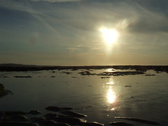 Sun setting over Doughmore Beach (Anne_CoClare) Tags: ocean ireland sunset sea sky sun reflection beach water clare atlantic doonbeg doughmore