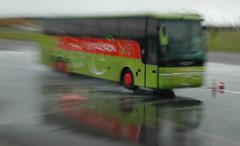Sicherheitstraining Bus Lausitzring - Bremsen auf nasser Fahrbahn V