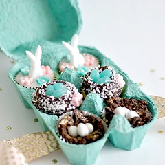 Mini Easter cupcakes (toriejayne) Tags: flowers bunny easter cupcakes nest chocolate mini fondant eggbox