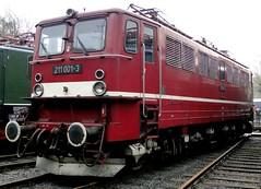 DR Electric locomotive 211 011 (Franky De Witte - Ferroequinologist) Tags: de eisenbahn railway estrada 35 bochum chemin fer spoorwegen jahre ferrocarril ferro ferrovia     eisenbahnmuseum dgeg