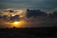 [118/366] (puzzlescript) Tags: city sunset sky sun clouds vizag