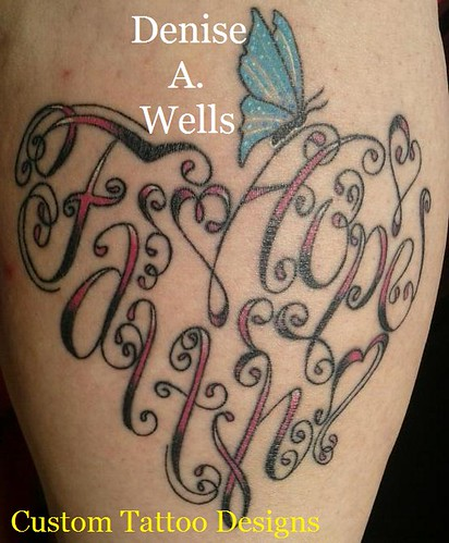Faith and Hope made into a heart shaped tattoo by Denise A. Wells