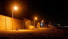 life under lights ([s e l v i n]) Tags: light india beach night bombay mumbai womanandchild versova versovabeach mumbaibeach ©selvin lifeunderlights