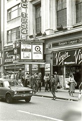 Quadrophenia film, Oxford Street London, 1979 (Paul-M-Wright) Tags: uk england cinema london classic film vintage movie 70s 1970s seventies thewho 1979 oxfordstreet mods virginmegastore quadrophenia paulwright classic12345