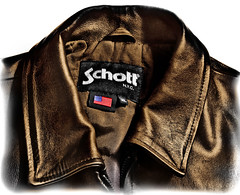 Schott NYC leather Jacket. . XL (CWhatPhotos) Tags: pictures life new york city nyc colour leather america canon that eos prime photo clothing colours with purple image photos pics near f14 flag picture sigma pic images have jacket american 7d colourful which xl contain lining selective popping 30mm schott cwhatphotos