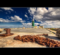 South Mole Lighthouse (B.M.K. Photography) Tags: lighthouse faro rust fremantle far westernaustralia hdr southmole greenlighthouse worldhdr