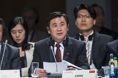Zhenglin Feng speaks at the Open Ministerial Session
