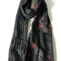 Cotton scarf  Blue Gray (raycious) Tags: light red black flower floral fashion japan scarf dark japanese grey cool soft cotton cherryblossom sakura elegant 81 zakka styel