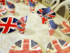 Ready for the party (larigan.) Tags: greatbritain party table jubilee patriotic queen cups napkins plates unionflag textured iphone larigan phamilton flypapertextures iphone4s