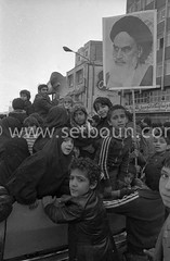 Iran - 08/02/1979/ - demonstration to support Medhi Bazargan , in the streets of tehran, seven days after the arrival of Khomeyni /// manifestation de soutien a Medhi Bazargan , sept jours apres l arrivee de Khomeyni a Teheran   /// IRAN25308 38 (setboun photos) Tags: asia iran muslim islam religion histoire historical asie tehran centralasia 1979 mullah clergy musulman cleric pretre asiecentrale clerge mullahs mollahs chiite mollah whiteturban iranianrevolution1979 religionmusulmane iranhistory islamshia chiisme politicalandsocialissue evenementhistorique muhamaddescendant turbanblanc