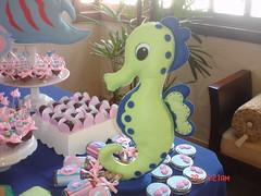 Festa fundo do mar!! (Arte Arteira - Feltro) Tags: feltro festa aniversário marinho cavalomarinho lembrancinha fundodomar centrodemesa