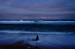 (danielle kiemel) Tags: ocean longexposure blue sunset sea portrait people selfportrait beach girl female night landscape freedom evening nikon solitude waves photographer dusk tide small young australia growth whirlpool hour nsw coastline strength centralcoast infinite breathing resilience adversity ihopeyoudance ihopeyoustillfeelsmallwhenyoustandbesidetheocean daniellekiemel wamberalbeach onbeingsmall theoceangivesandittakes