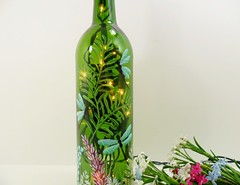 Lighted Wine Bottle Dragonflies Hand Painted 750 ml (Painting by Elaine) Tags: lighting blue green glass garden lights bottle wine dragonflies dragonfly painted handpainted winebottle handpaintedbottle homedecor lighted barlight paintedbottle accentlight winebottlelights painteddragonfly bottlelights paintedwinebottle lightedwinebottle paintingbyelaine