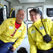 Coach Tim and I in the relay participant bus going to be dropped off by tackeyist