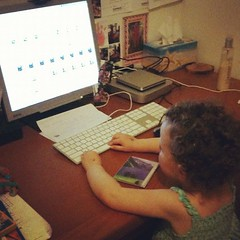"When I asked Zoe what she was doing her reply was ""Zoe busy. Zoe working."" gee wonder where she gets that from :)"