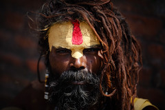 Sadhu at Pashupathinath (Lil [Kristen Elsby]) Tags: travel nepal portrait man dreadlocks topf75 asia kathmandu hindu hinduism topv4444 sadhu holyman saddhu pashupatinath travelphotography pashupatinathtemple canon70200f28l canon7020028l canon5dmarkii पशुपतिनाथकोमन्दिर