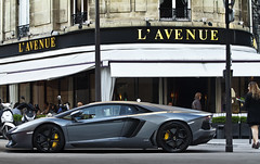 Lamborghini Aventador lp700-4 (Gskill photographie) Tags: france yellow canon grey gris avenue lamborghini 70200 supercar matte montaigne supersport gskill 60d worldcars aventador lp7004