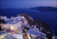 Dusk.Summer.Greece.Unforgettable. (Andrei Dragomir) Tags: sunset summer castle stairs lights nightshot dusk aegean santorini greece caldera oia cyclades kastro thirasia kyklades