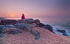 Sunrise (D-Focused) Tags: barcelona santa travel sea beach sunrise spain nikon tokina 124 susana 1224mm d90