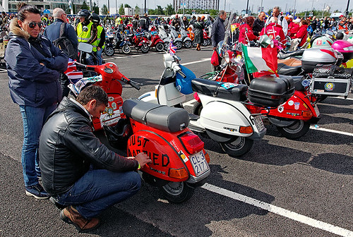Vespa world day ride out, Greenwich