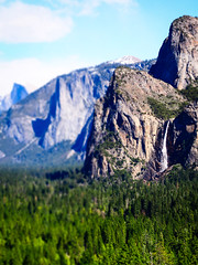 bridal (D.P. Kuras) Tags: life california park travel moon nature beauty river landscape outdoors nationalpark lifestyle waterfalls valley yosemite halfdome bridalveil blessed tunnelview tiltshift