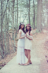 Daughters of Spring. (NEW|photography) Tags: flowers light lake sunrise spring nikon dress models newengland headpiece d90