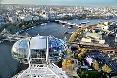 London from the Eye (michael_speranza) Tags: london eye wheel thames architecture river landscape pod cityscape view thecity londoneye ferris tourists millennium destination upstream pods londoncity edf