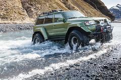 Þórsmörk (holger.torp) Tags: þórsmörk jeep nissan patrol super size river crossing iceland safari vehicle outdoor car